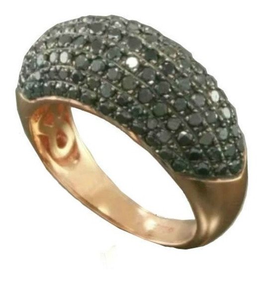 Anel Pavê De Ouro 18k/750 De Namoro + 100 Diamantes An75vj