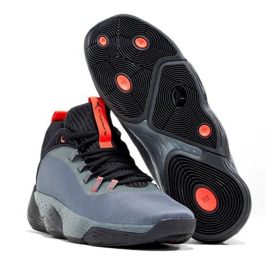 Tenis Nike Jordan Super Fly Gris/naranja - Ao6223 001