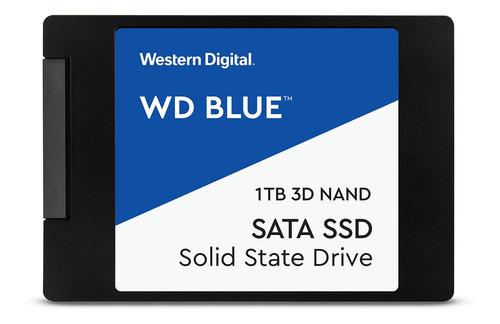 Imagen 1 de 3 de Disco sólido interno Western Digital  WDS100T2B0A 1TB azul