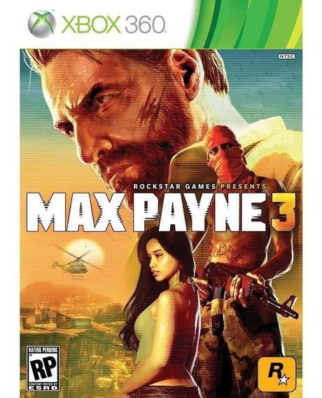 Frete10$ Lacrado Max Payne 3 Português Mídia Física Xbox 360