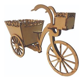 Bicicleta Con Maceta Mdf Adorno Centro De Mesa Boda