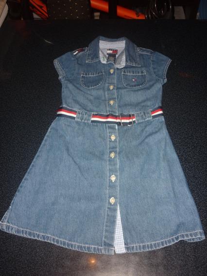 Espectacular!! Vestido De Nena Tommy Jeans T5