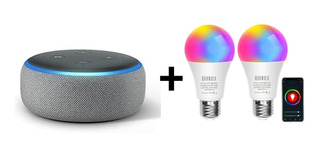 Oferta! Echo Dot 3era Gen Alexa + 2smart Led/luz Inteligente