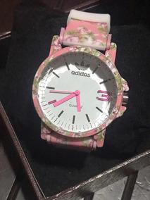 Relógio Feminino adidas Pulseira Borracha Estampado Rosa