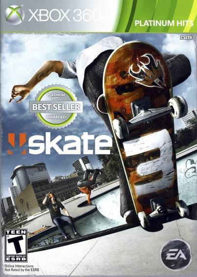 Skate 3 Xbox 360 / Xone Mídia Física Lacrado