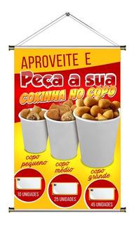 Banner De Mini Coxinha No Copo 60x90cm