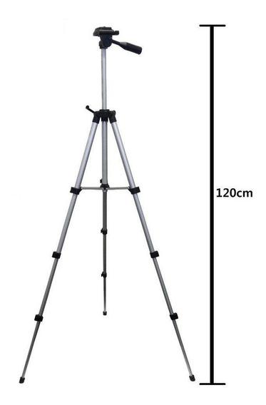 Tripe Câmera Profissional 1.2 Metros C/ Nivel + Bolsa Brinde