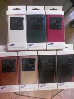 Estuche Samsung Galaxy Cuero Lujo S5 Mini S View Cover