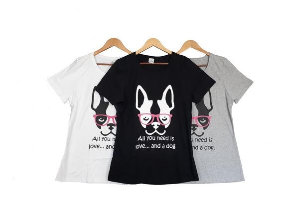 Kit Com 06 Peças Camisetas T-shirt Blusa Feminina Plus Size