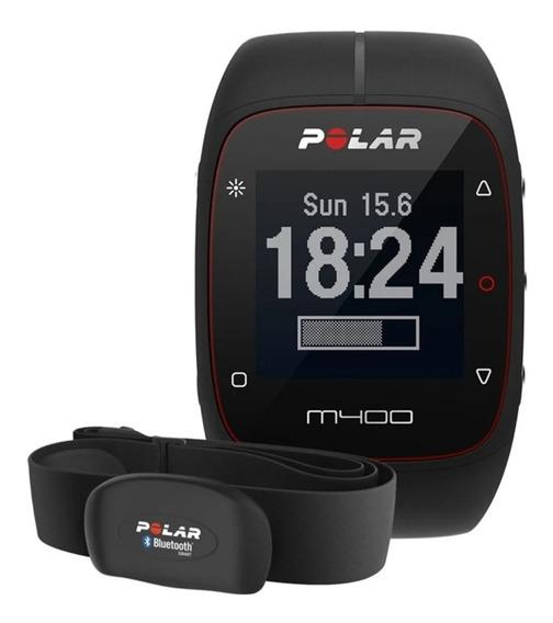 Relógio Polar M400 Monitor Cardíaco Gps Bluetooth Preto.