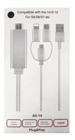 Cable Hdmi A Microusb Tipo-c Lightning Ios12 Titan Belgrano