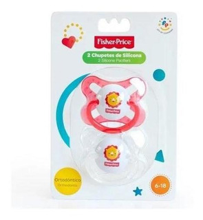 Chupetes Para Bebes Fisher Price X2 Silicona 6-18 Meses P