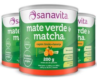 Kit 3 Mate Verde E Matcha - 200g - Sanavita Sabores Variados
