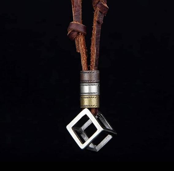 Colar Masculino Cordão Cruz Cubo Promoção Vários