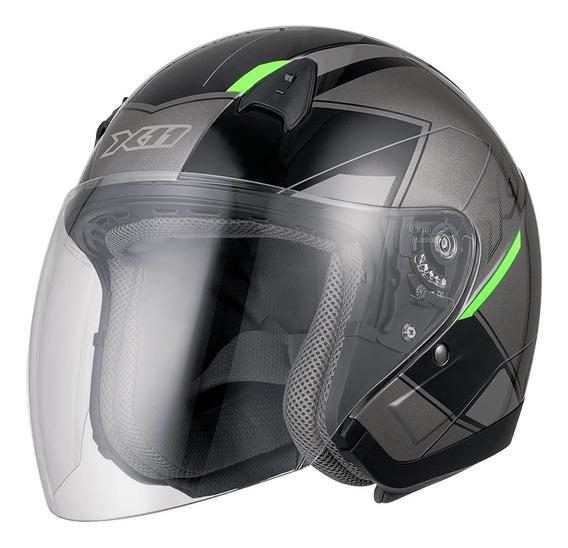 Capacete Aberto Motociclista X11 Freedom Novo Oferta