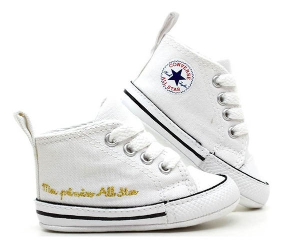 Tênis Converse Meu Primeiro All Star Branco Ck0440 Loja Pixolé
