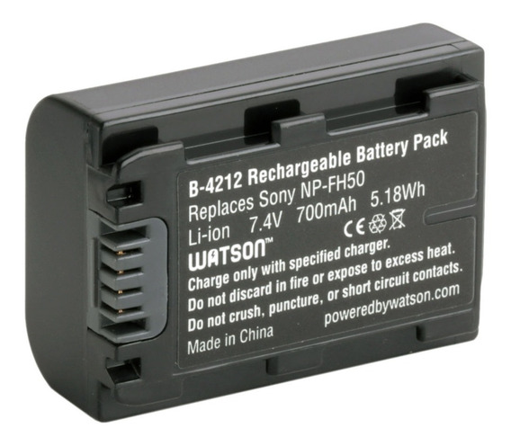 Bateria Np-fh50 Sony Cyber-shot Dsc-hx1 Dcr-dvd653 Dcr-hc17