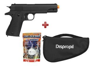 Pistola Airsoft Spring M292 Colt 1911 + Kit Capa