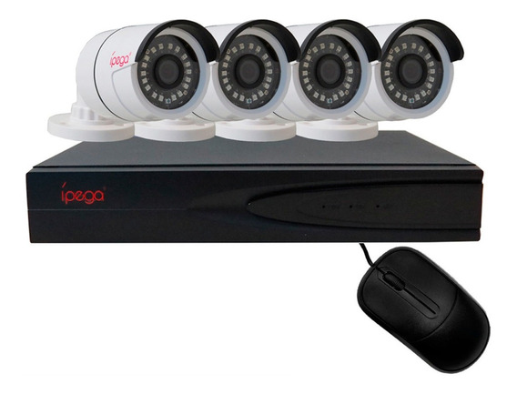Kit Dvr 4 Câmeras Segurança Full Hd Hdmi Monitoramento App