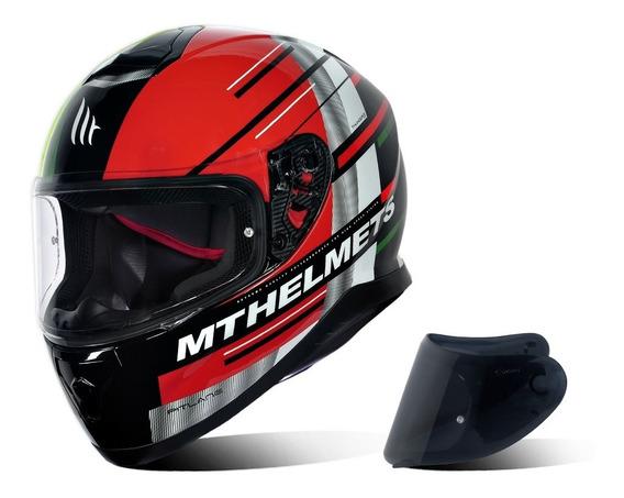 Capacete Mt Helmets Thunder 3 Pitlane + Viseira Fumê