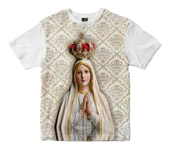 Camiseta Nossa Senhora De Fátima - Camiseta Rainha Do Brasil