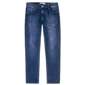 Calça Skinny Em Moletom Jeans Algodão Hering H1mm - Azul