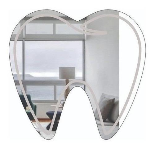 Imagem 1 de 4 de Espelho Decorativo P/ Dentista - 80x75 Cm