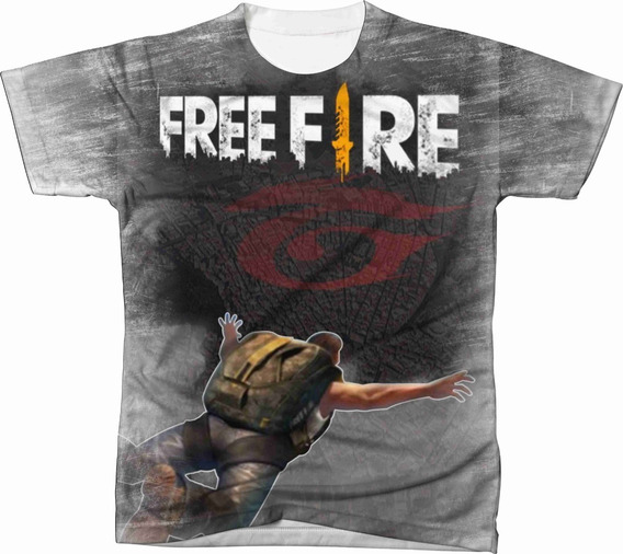Camiseta Camisa Personalizada Free Fire Jogo Game Ref 06