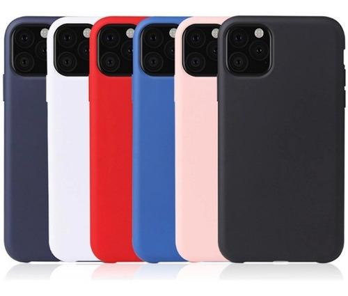 Carcasa Silicone Case iPhone 11 +vidrio Completo 10d