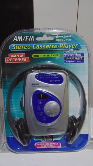 Walkman (am-fm + Fita K-7) *lenoxx Sound 1129. Novo!lacrado!