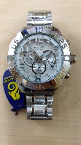 Relógio Atlantis Masculino Estilo Technos Nota E Caixa