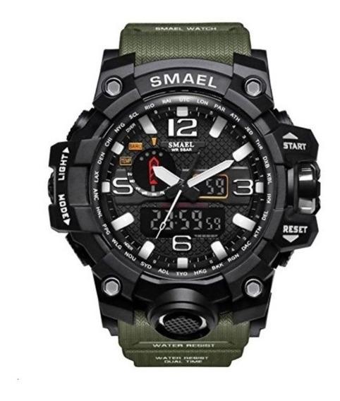 Relógio Tático Militar Smael Cor Verde Pronta Entrega