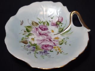 Despojador Porcelana Limoges France Pintado Intacto