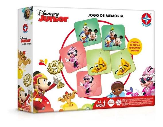 Jogo Educativo Da Memória Disney Jr Minnie Mickey Estrela