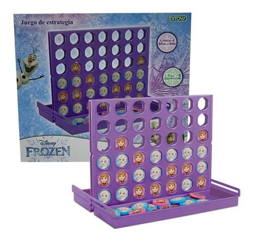 Juego De Mesa 4 En Linea Frozen Line Up  Ditoys Rre 2370