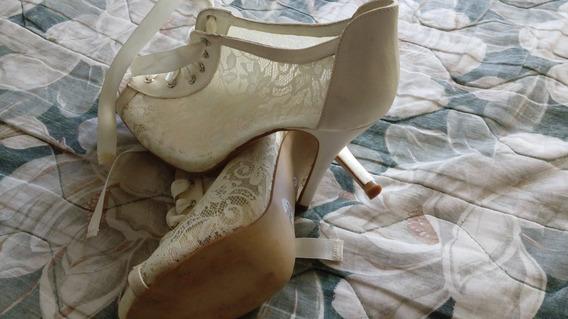 Zapatos Botin De Dama Perla