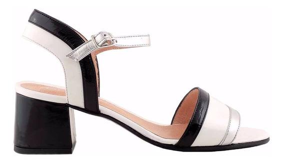 Sandalia Cuero Mujer Briganti Zapato De Vestir - Mcsd04593