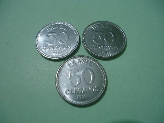 Moedas 50 Centavos 1986/1987/1988 ( Lote )