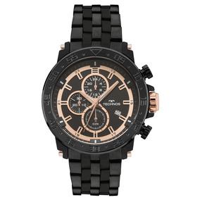 Relógio Technos Masculino Preto Prova 100 M Barato Js15es/4p