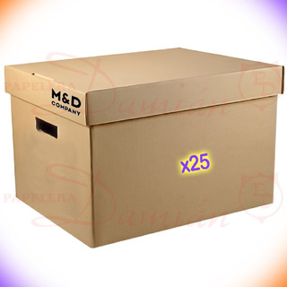 Caja Archivo Carton Americana M&d Oficio Reforzada Pack 25u