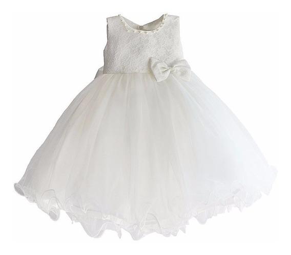Vestido Blanco Talla 8 Bautizo Matrimonio Paje