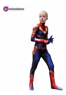 Disfraz De Capitana Marvel Para Niñas