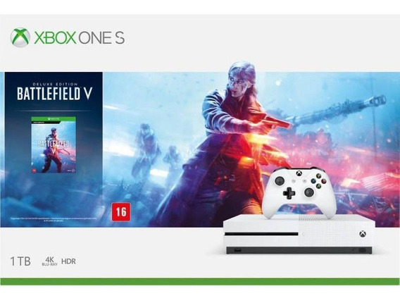 Xbox One S 1tb Branco + Battlefield V 234-00684