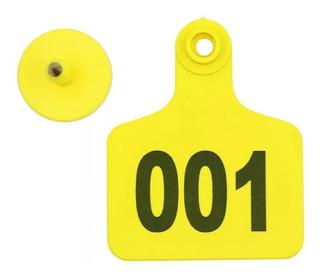 Arete Identificación Para Ganado 001-100 7.5×6cm