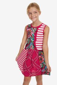 Vestido Niña Textil Rojo Desigual