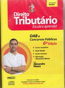 Cd Rom -direito Tributário - Autor Prof. Alexandre Maz