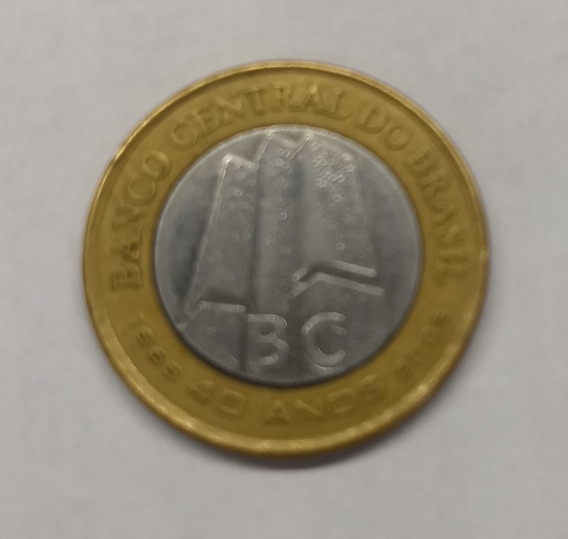 Moeda 1 Real Comemorativa 40 Anos Banco Central