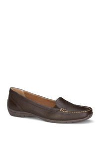 Zapatos Flat Mocasin Cafe Dr Scholls Dama Piel Udt K14342