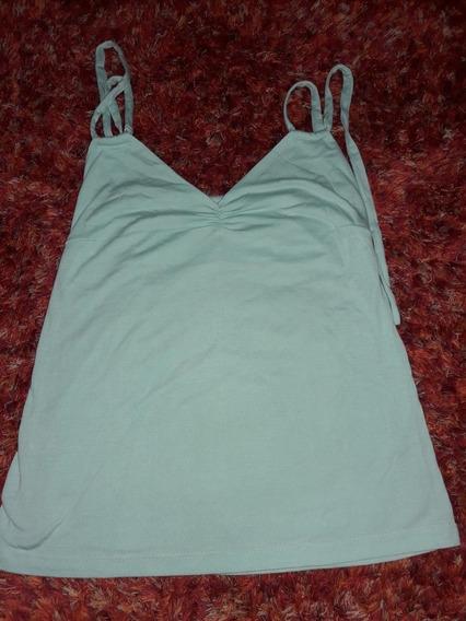 Musculosa Verde Agua Cuesta Blanca Talle M