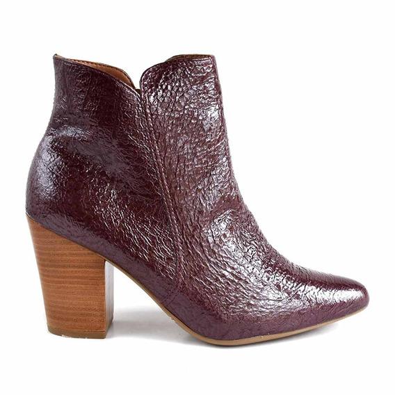 Bota Cuero Vestir Mujer Zapato Botineta Zapato - Mcbo24914